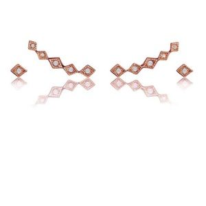 LUV AJ Kite Crawler Earring set